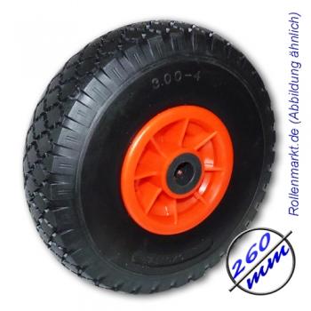 Polyurethan-Luft-Identischer Reifen 260 mm, schwarz, pannensicher